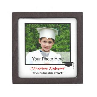 Photo Kindergarten Graduation Announcement Jewelry Box