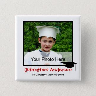 Photo Kindergarten Graduation Announcement Pinback Button