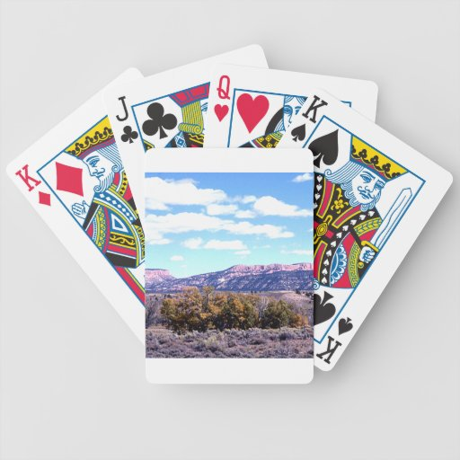 Photo Landscape 4 Bicycle Playing Cards