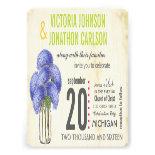 Photo Lavender Lime Hydrangea Mason Jar Wedding Personalized Invitations
