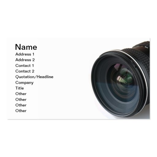 Photo lense business card