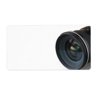 Photo lense shipping label