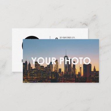 Photo & Logo Modern Minimalist Social Media Icons Business Card