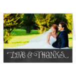 Photo Love and Thanks Card   Chalkboard Charm