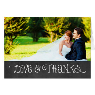 Photo Love and Thanks Card | Chalkboard Charm