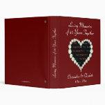 Photo Love Heart Diamond Anniversary 3 Ring Binders