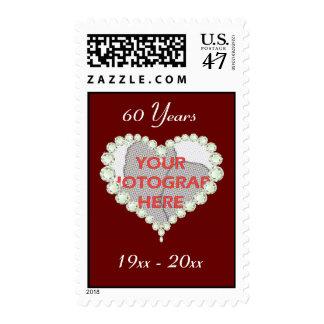 Photo Love Heart Diamond Anniversary Postage