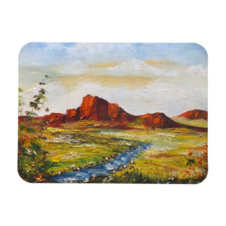 Photo Magnet Ann Hayes Painting Red Rock Canyan