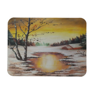 Photo Magnet Ann Hayes Painting Winter Scene