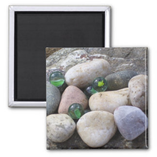 Photo Magnet, Rocks and Marbles Magnet