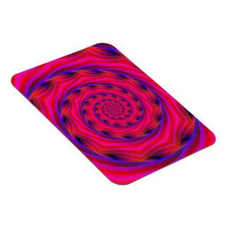 Photo Magnet  Violet and Blue Spiral