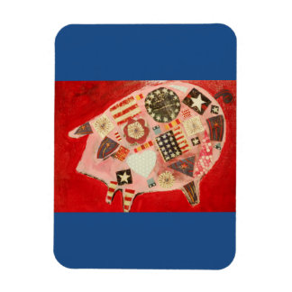 Photo Magnet with Dancing Pig