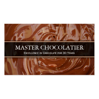 Photo Melted Chocolate, Chocolatier Business Card