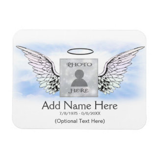 Photo Memorial Angel Wings Magnet