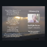"""Photo Memorial Funeral Order of Service Program Flyer<br><div class=""""desc"""">Customize with your text &amp; photo - Programs are double sided and will be Folded when complete,  make sure your text is centered to half page / foldline when editing - Graphic Design by KDArtStudio c.2017</div>"""