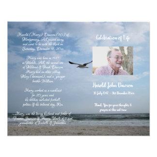 Photo Memorial Funeral Order of Service Program Flyer