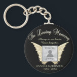 "Photo Memorial in Loving Memory Keychain<br><div class=""desc"">Add a photo,  name and dates to make a cherished keepsake.</div>"