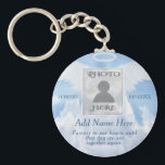 """Photo Memorial in Loving Memory Keychain<br><div class=""""desc"""">Add a photo,  name and dates to make a cherished keepsake.</div>"""