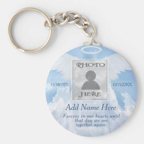 Photo Memorial in Loving Memory Keychain