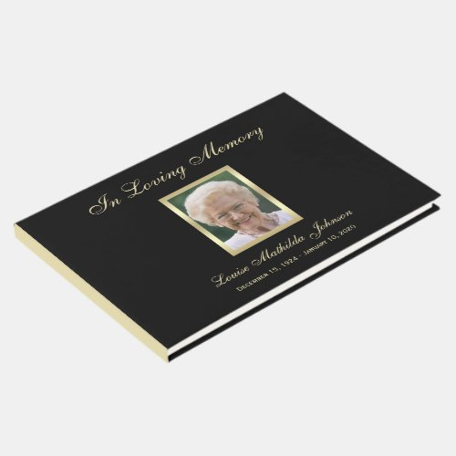 Photo Memorial or Funeral Guest Book
