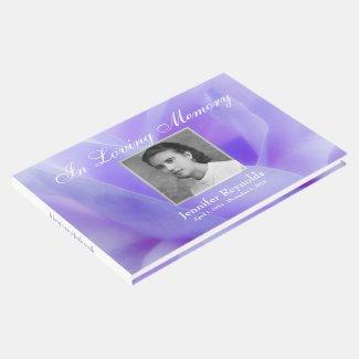 Photo Memorial or Funeral Guestbook