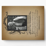 Photo Memorial Plaque<br><div class='desc'>A beautiful and timeless way to remember your loved one with a personalized memorial photo plaque. Upload your own picture and edit all the text on the front for a unique keepsake you and your family will treasure. The poem on this plaque reads: We think about you always, we talk...</div>