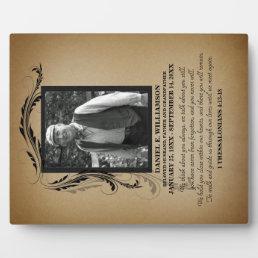 Photo Memorial Plaque