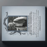 "Photo Memorial Plaque<br><div class=""desc"">A beautiful and timeless way to remember your loved one with a personalized memorial photo plaque. Upload your own picture and edit all the text on the front for a unique keepsake you and your family will treasure. The poem on this plaque reads: We think about you always, we talk...</div>"