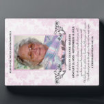 """Photo Memorial Plaque<br><div class=""""desc"""">A beautiful and timeless way to remember your loved one with a personalized memorial photo plaque. Upload your own picture and edit all the text on the front for a unique keepsake you and your family will treasure. The poem on this plaque reads: We think about you always, we talk...</div>"""