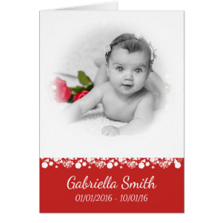 Photo Memorial Thank You Card for a Child