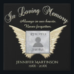 "Photo Memorial with Angel Wings Canvas<br><div class=""desc"">A photo memorial with angel wings to create a comforting gift for someone you care about.</div>"