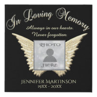 Photo Memorial with Angel Wings Canvas
