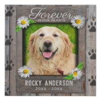 Photo Memorial with Paw Prints Canvas