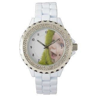 Photo Memories Custom Watch 3-hand analog Japan Quartz® Trifold fold over clasp closure