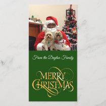 Photo Merry Christmas Card Personalized