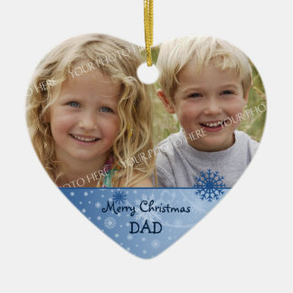 Photo Merry Christmas Dad Ornament
