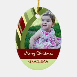 Photo Merry Christmas Grandma Ornament