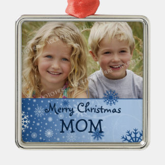Photo Merry Christmas Mom Ornament