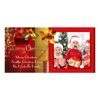 Photo Merry Christmas Season Greetings Family Photo Card