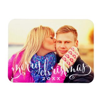 Photo Merry Christmas | White Script Overlay