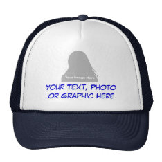 Photo & Message Hat at Zazzle