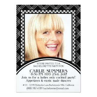 Photo Modern Bachelor  Bachelorette Party Custom Invite