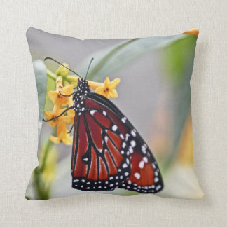 photo monarch butterfly on yellow flower pillow
