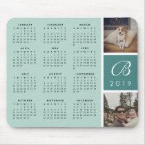 Photo & Monogram 2019 Calendar Mousepad
