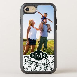 Photo & Monogram Damask OtterBox Symmetry iPhone 7 Case