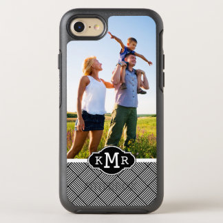 Photo & Monogram Geometric checked texture OtterBox Symmetry iPhone 7 Case