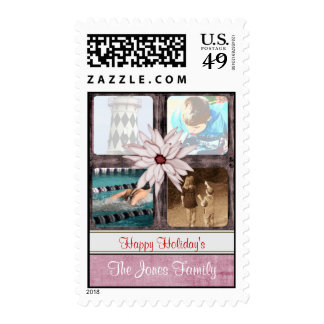 Photo Montage Holiday Postage Stamps Template