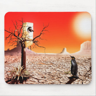Photo montage penguins in the desert mouse pad
