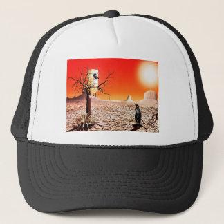 Photo montage penguins in the desert trucker hat