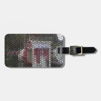 Photo mosaic bag tag